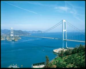 下蒲刈島から望む安芸灘大橋