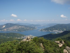火山から望む倉橋島