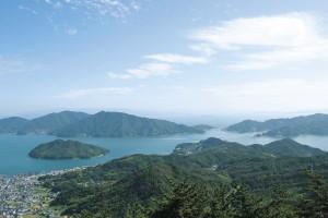 鉢巻山展望台からの眺望(野呂山)